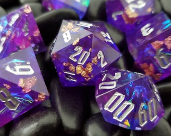 Ethereal Potion Sharp Edge Dnd dice set, d20 Polyhedral dice set for Dungeons and Dragons