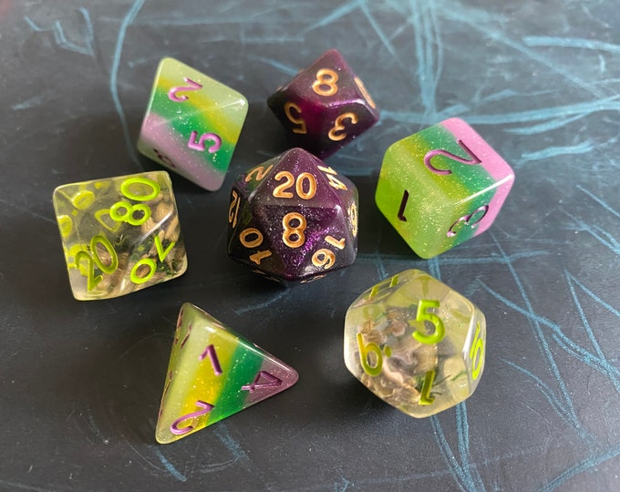PG4 DNd DIce SEt, D20 POlyhedral dICE SEt For DUngeons And DRagons DIce