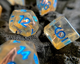 ARROW Dnd Dice Set, Polyhedral dice 4 Dungeons and Dragons TTRPG Rpg Role PLaying Tabletop Games D20