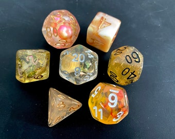 OO DNd Dice set FOr Dungeons and Dragons dice , RPg POlyhedral DIce SEt, D20 DIce