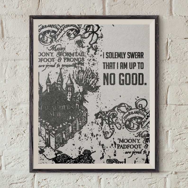 This is a photo of Harry Potter Marauders Map Printable intended for design
