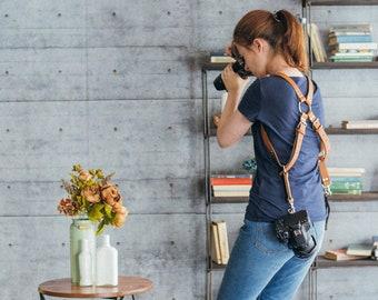 Cameras Harness, Two Cameras Strap, Dual Cameras Strap, Two Cameras Harness, Dual DSLR Harness, Dual DSLR Strap