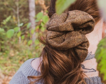 EMME // Upcycled Super Scrunchie   Chunky Scrunchie   Oversized Scrunchie   Large Scrunchie (Upcycled Collection)