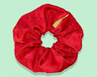 SCARLETT // Upcycled Super Scrunchie   Chunky Scrunchie   Oversized Scrunchie   Large Scrunchie (Upcycled Collection)