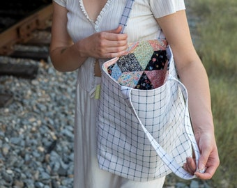 SIOUXSIE // Tote Bag | Fully Lined Upcycled Tote Bag | Zero Waste Plaid Shopper (Upcycled Collection)
