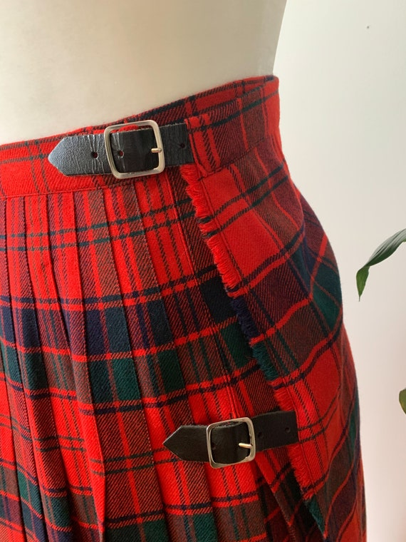 Vintage tartan midi skirt - image 2