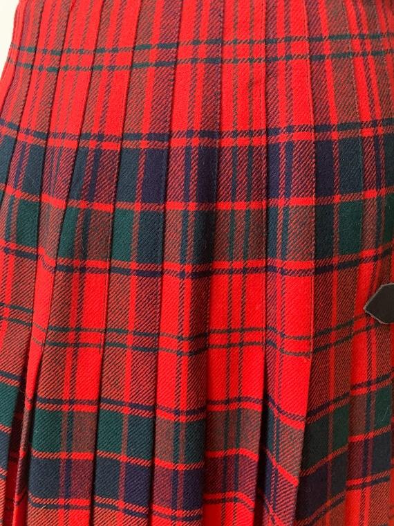 Vintage tartan midi skirt - image 4