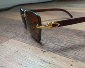 Wood frame glasses