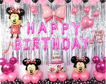 Minnie Mouse Party Decorations  Minnie Mouse birthday decoration Balloons set Minnie Mouse party supplies Polka Dots Balloons