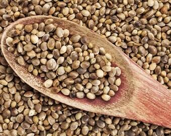 Organic Hemp Seeds for Hulled Snacking, Salads, etc or Bird / Animal Feed - USA Grown