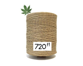 720FT Hemp Wick - Organic Beeswax & Twine / Rope / String for Smoking or the Making of Candles, Bracelets, Necklaces, etc. - 1MM