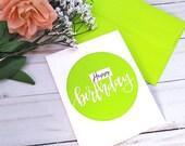 Happy Birthday Greeting Card / A2 / Handmade Greeting Card