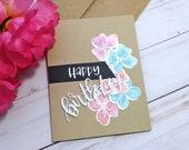 Happy Birthday, Birthday Greeting Card / A2 / Handmade Greeting Card