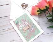 Cheers Friend / Friendship Greeting Card / A2 / Handmade Greeting Card