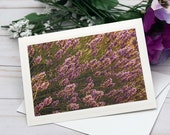 Purple Flowers Bush, Florence Oregon / Photo, Photography Greeting Card / A2 / Handmade Greeting Card
