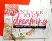 Never Stop Dreaming & See the Beauty Encouragement Cards / Encouragement Greeting Card / A2 / Handmade Greeting Card