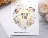 Thinking of You / Friendship / Encouragement Greeting Card / A2 / Handmade Greeting Card