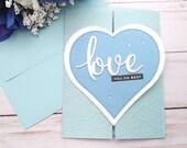 Love You Da Best / Friendship / Encouragement Greeting Card / A2 / Handmade Greeting Card