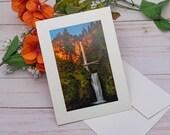 Multnomah Falls / Photo, Photography Greeting Card / A2 / Handmade Greeting Card