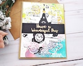 Have a Wonderful Day / Friendship / Thinking of You / Greeting Cards / A2 / Handmade Greeting Card