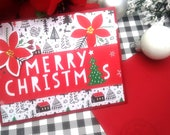 Merry Christmas / Holiday, Christmas Greeting Card / A2 / Handmade Greeting Card