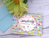 Sending Birthday Joy, Birthday Greeting Card / A2 / Handmade Greeting Card
