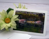 Family of Canada Geese / Photo, Photography Greeting Card / A2 / Handmade Greeting Card