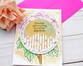 Friendship Isn't a Big Thing, It's a Million Little Things, Friendship Greeting Card / A2 / Handmade Greeting Card