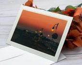 Smokey Sunrise / Photo, Photography Greeting Card / A2 / Handmade Greeting Card