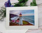 Heceta Head Lighthouse, Oregon Coast Photo card / Photo, Photography Greeting Card / A2 / Handmade Greeting Card