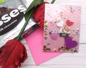You & Me / Valentine's Day / Love  Greeting Card / A2 / Handmade Greeting Card