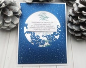 Christmas is a time full of Friendship and Love... / Holiday, Christmas Cards / A2 / Handmade Greeting Card