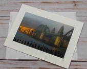 Siuslaw Bridge Sunrise / Photo, Photography Greeting Card / A2 / Handmade Greeting Card