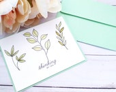 Thinking of You Friendship Greeting Card / A2 / Handmade Greeting Card