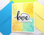 Love Cards / Friendship Greeting Card / A2 / Handmade Greeting Card