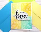 Love Cards / Friendship Greeting Card / A2 / Handmade Greeting Card