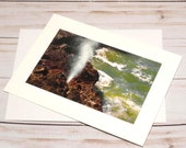 Spouting Horn, Cape Perpetua / Photo, Photography Greeting Card / A2 / Handmade Greeting Card