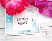 Birthday Wishes / Birthday Greeting Card / A2 / Handmade Greeting Card