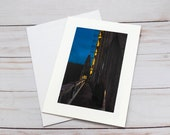 Siuslaw River Bridge Florence Oregon / Photo, Photography Greeting Card / A2 / Handmade Greeting Card