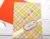 Have a Fabulous Birthday, Birthday Greeting Card / A2 / Handmade Greeting Card