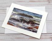 Crashing Waves / Photo, Photography Greeting Card / A2 / Handmade Greeting Card