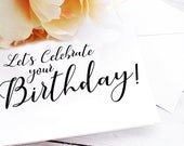 Let's Celebrate your Birthday Greeting Card / A2 / Handmade Greeting Card