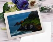 Coastal Lighthouse, Heceta Head / Photo, Photography Greeting Card / A2 / Handmade Greeting Card