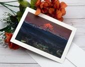 Mt. Hood Sunset, Sandy Oregon / Photo, Photography Greeting Card / A2 / Handmade Greeting Card