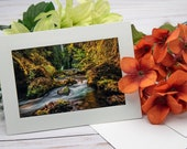 Wahclella Falls, Columbia Gorge Oregon / Photo, Photography Greeting Card / A2 / Handmade Greeting Card
