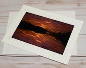 Siuslaw Sunset / Photo, Photography Greeting Card / A2 / Handmade Greeting Card