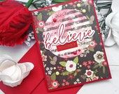 Believe Yourself / Encouragement, Uplifting Greeting Card / A2 / Handmade Greeting Card
