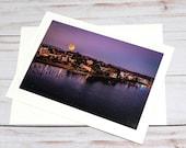 Florence Moonrise, Florence Oregon / Photo, Photography Greeting Card / A2 / Handmade Greeting Card
