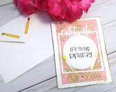 Celebrate, It's your Birthday / Birthday Greeting Card / A2 / Handmade Greeting Card