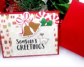 Season's Greetings / Holiday, Christmas Greeting Card / A2 / Handmade Greeting Card